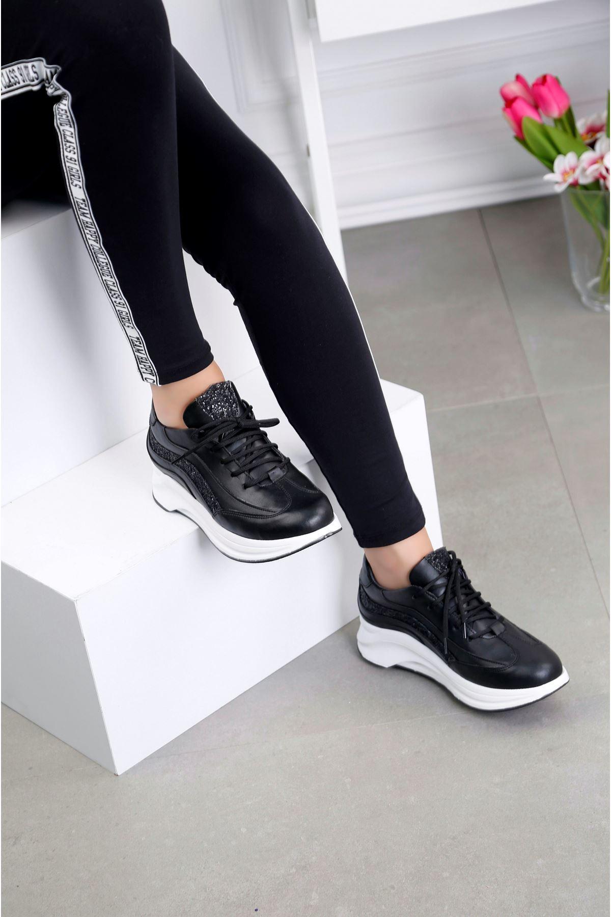 AIR Siyah Spor Ayakkabı
