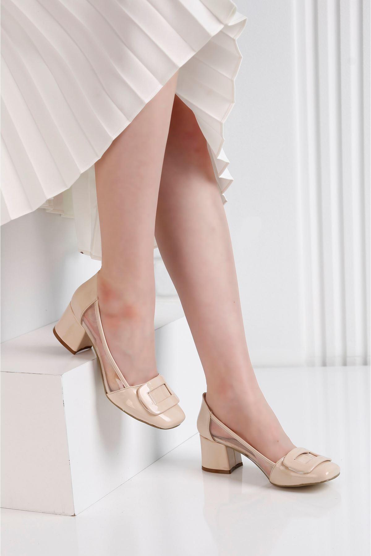 Barbie Topuklu Vizon Şefaf Ayakkabı