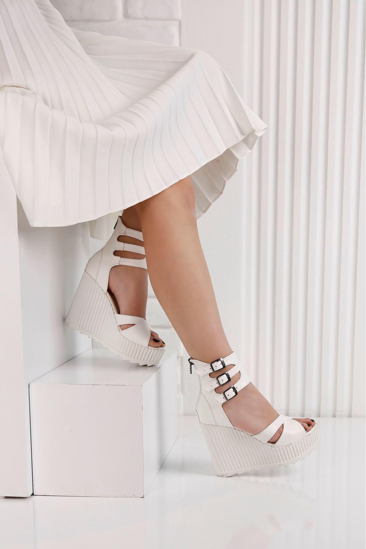Alto Beyaz Kadın Platform Ayakkabı