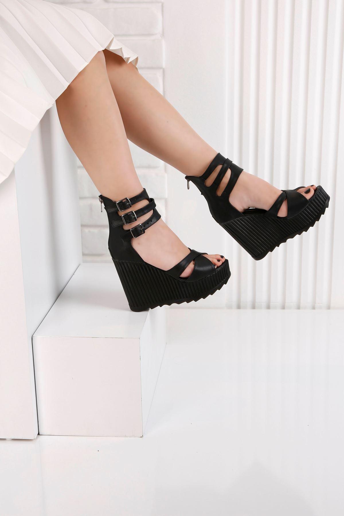 Alto Siyah Kadın Platform Ayakkabı