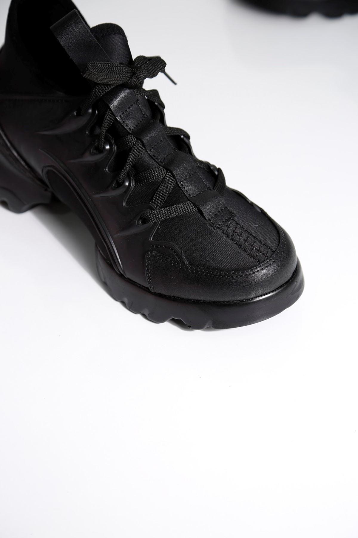 KNAP Siyah Kadın Spor Ayakkabı
