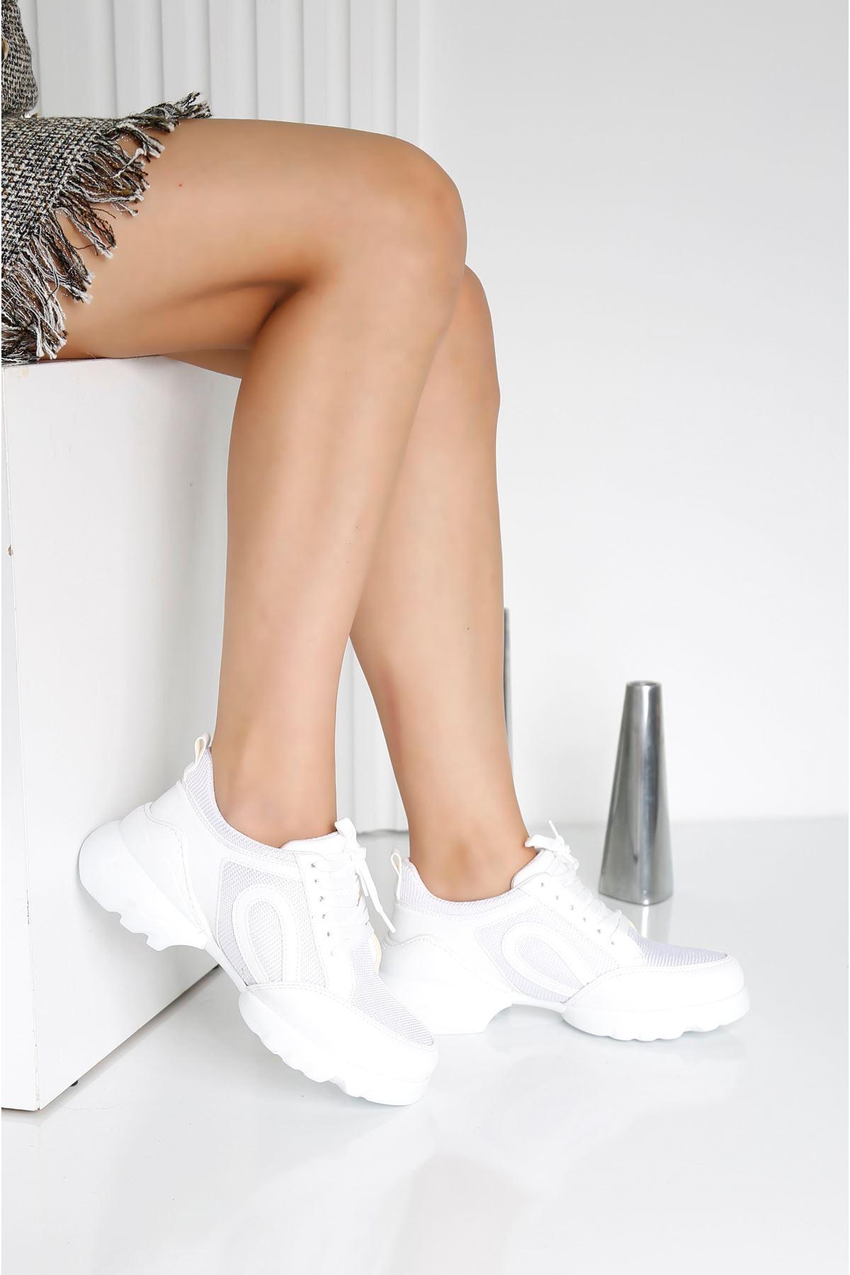 CHARİSMA Beyaz Kadın Spor Ayakkabı