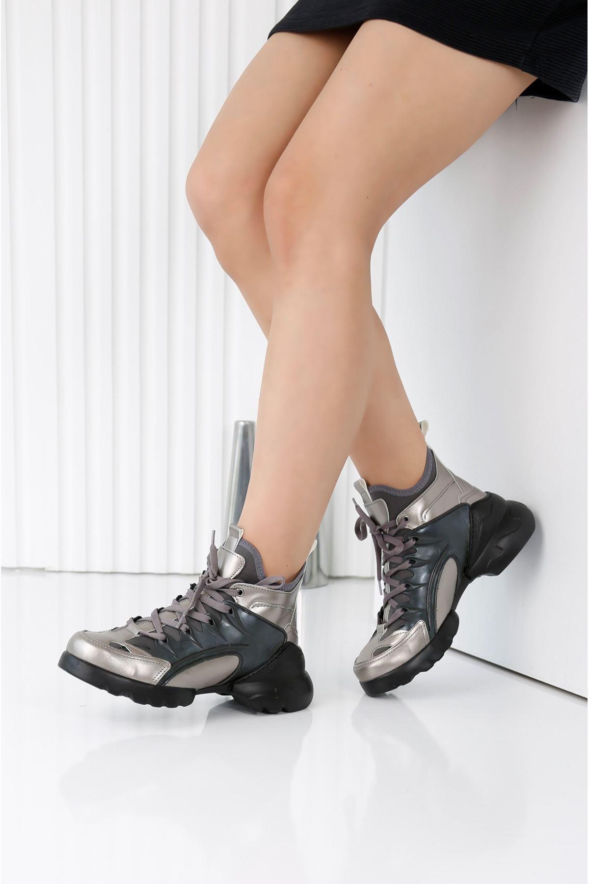 HERA Antrasit Kadın Spor Ayakkabı