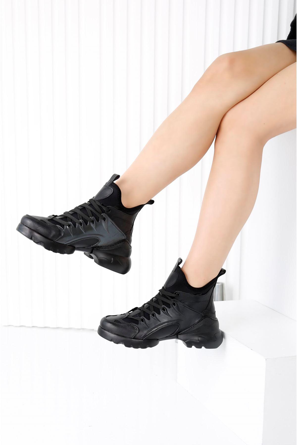 HERA Siyah Kadın Spor Ayakkabı