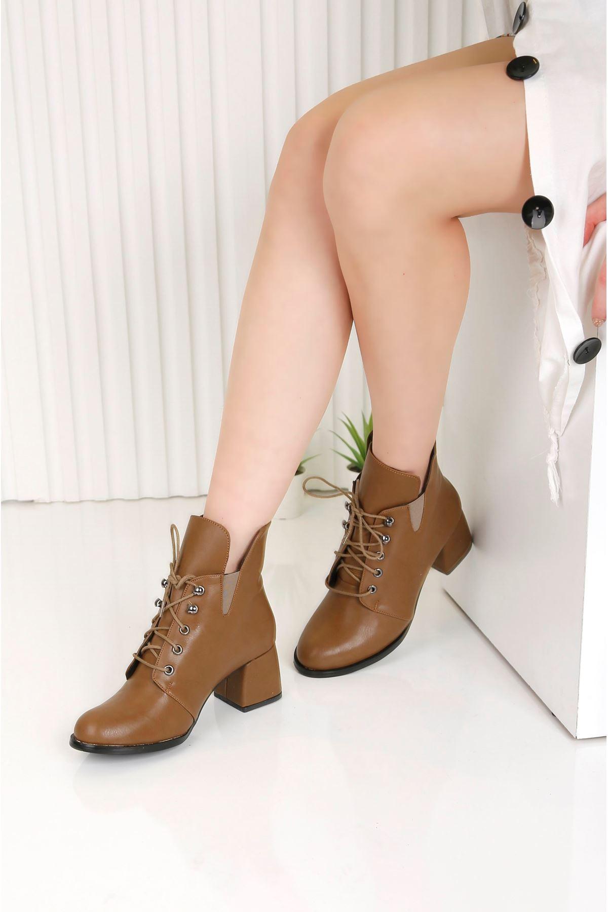 TRAUM Taba Topuklu Kadın Bot