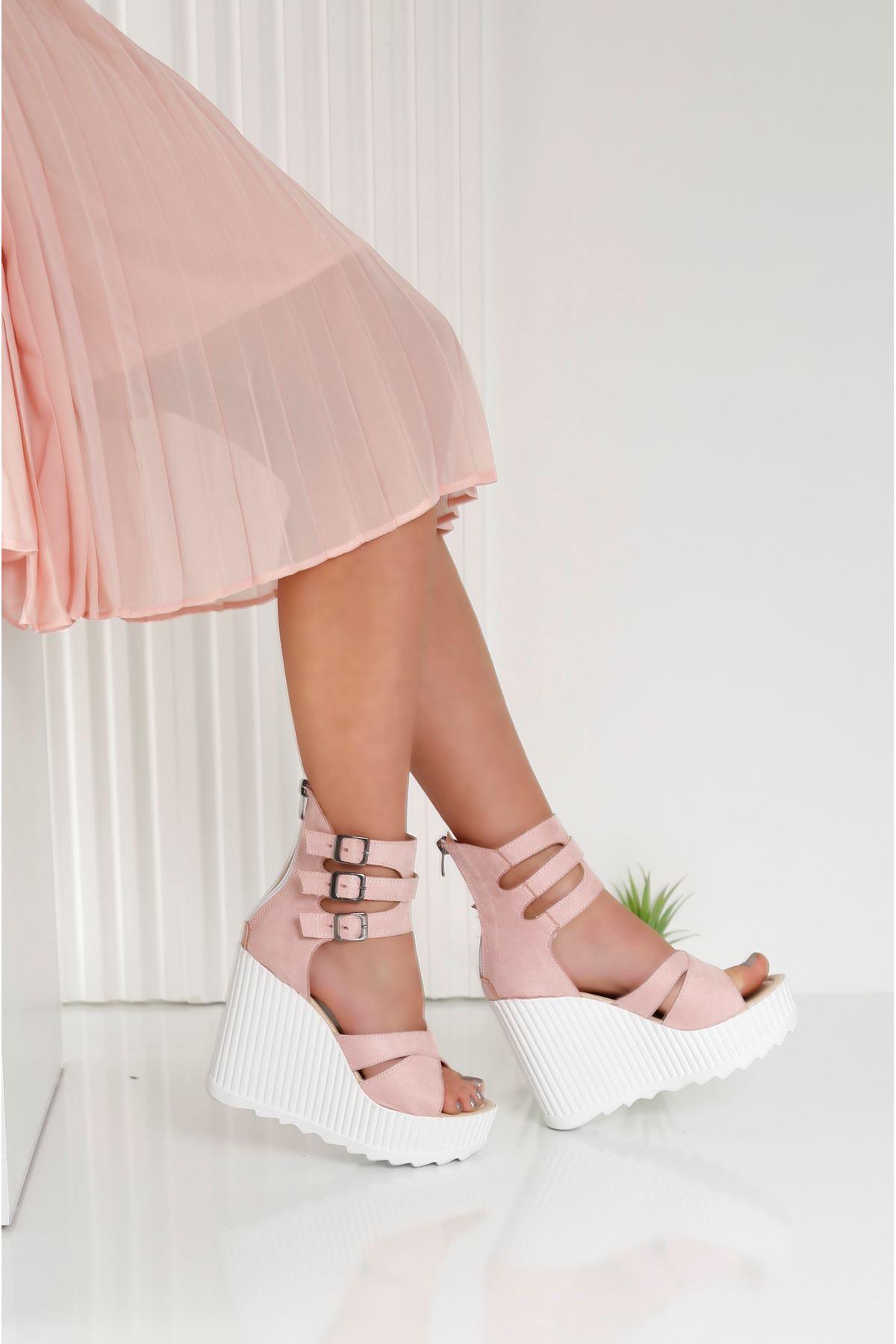 Alto Pembe Kadın Platform Ayakkabı