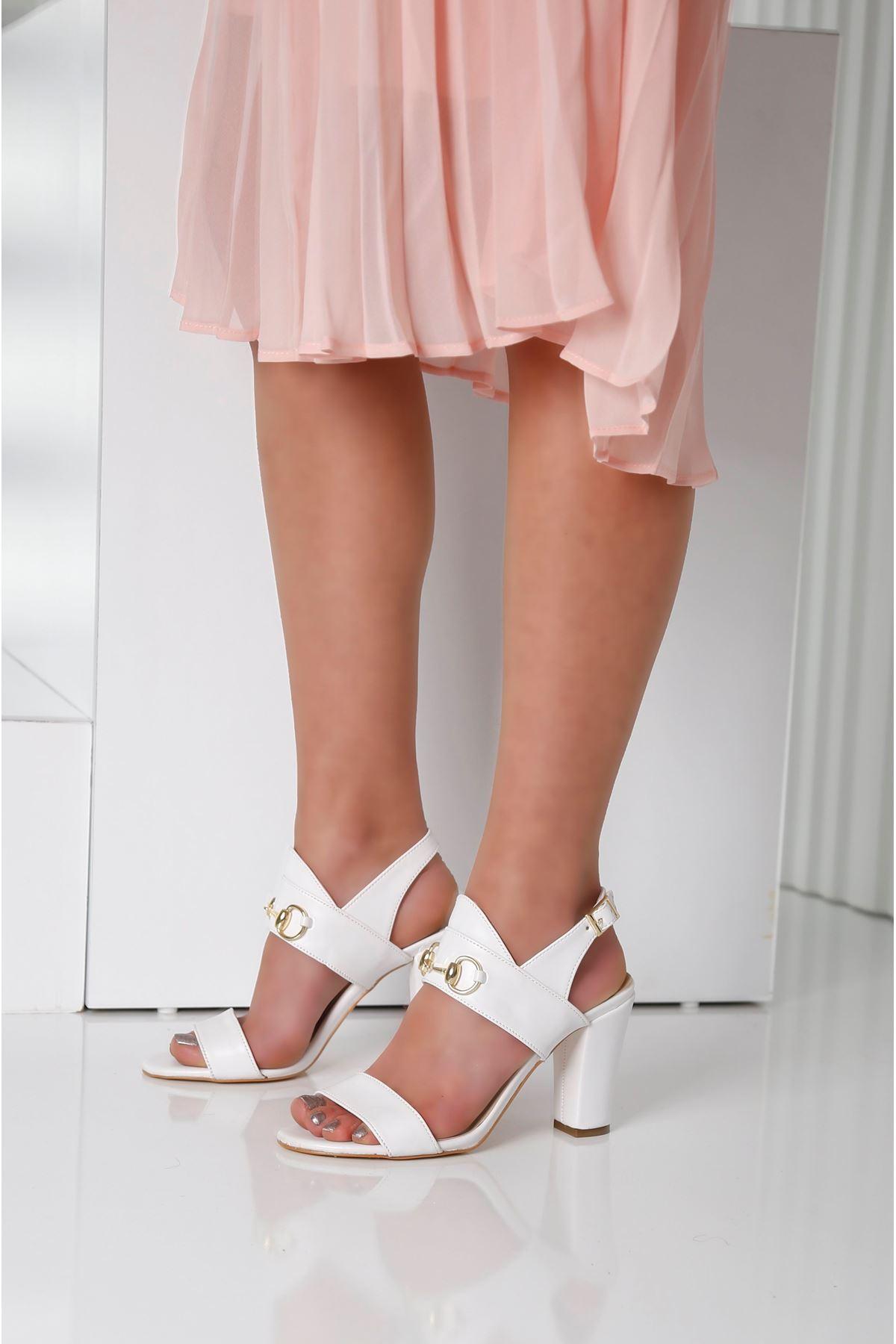 RAYNE Beyaz Topuklu Kadın Ayakkabı