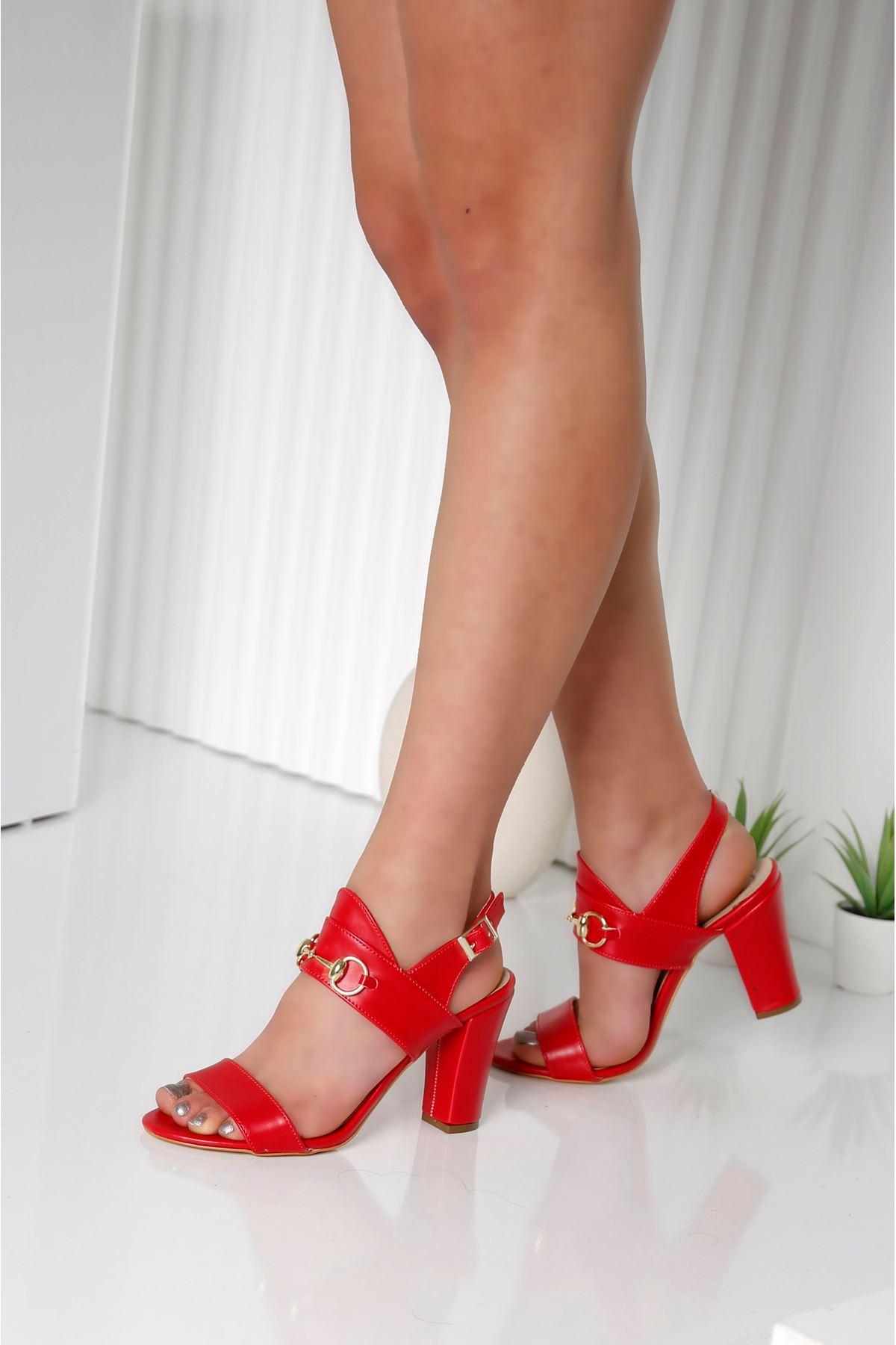 RAYNE Kırmızı Topuklu Kadın Ayakkabı