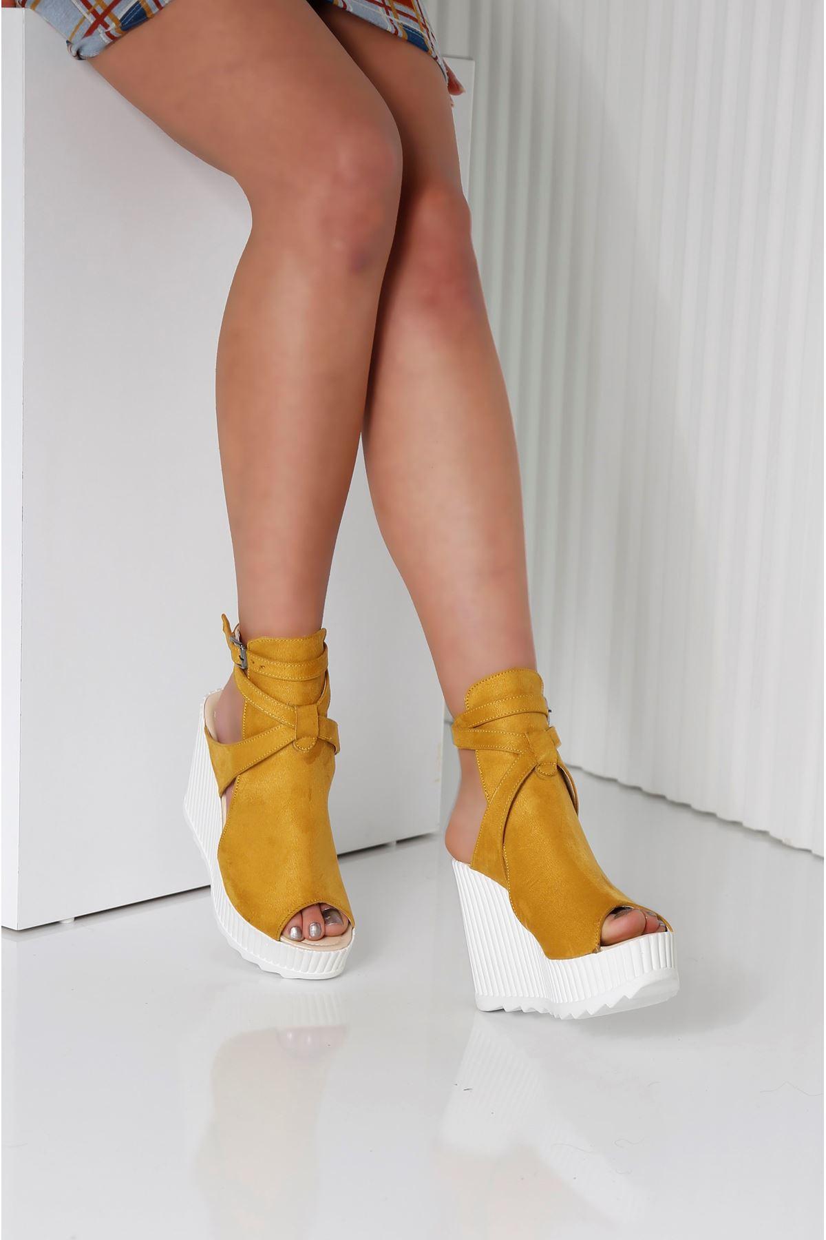 ALVINA Sarı Kadın Platform Ayakkabı