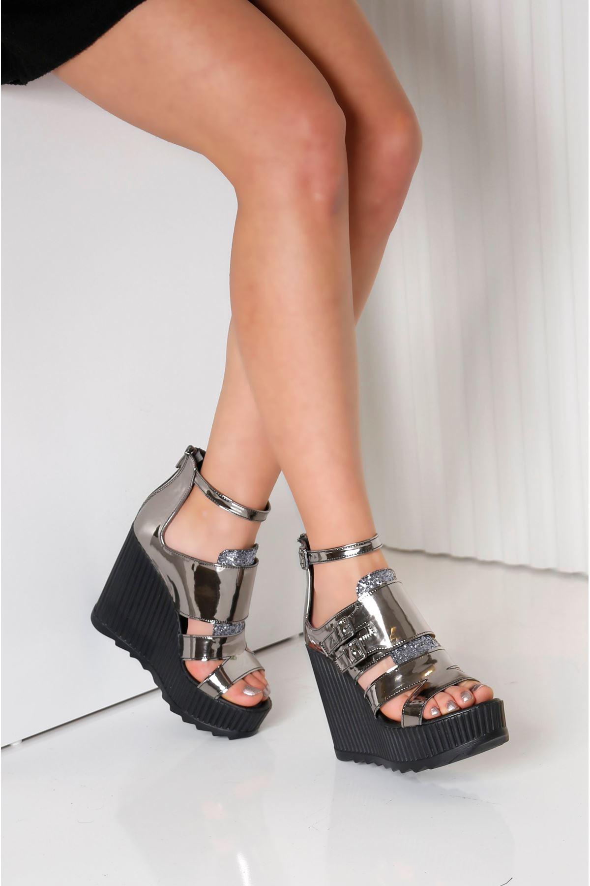 STELLA Platin Kadın Platform Ayakkabı