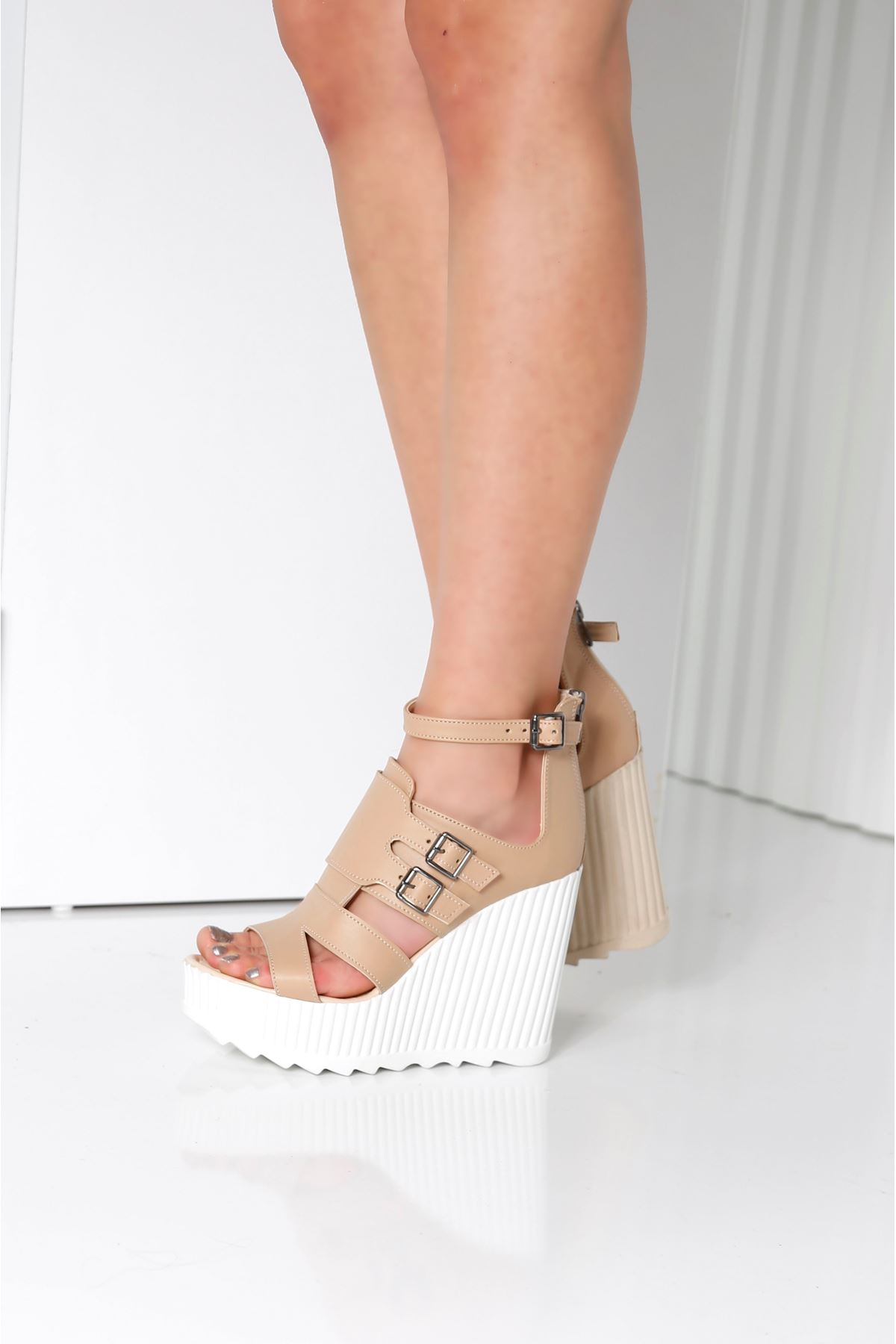 STELLA Nude Cilt Kadın Platform Ayakkabı