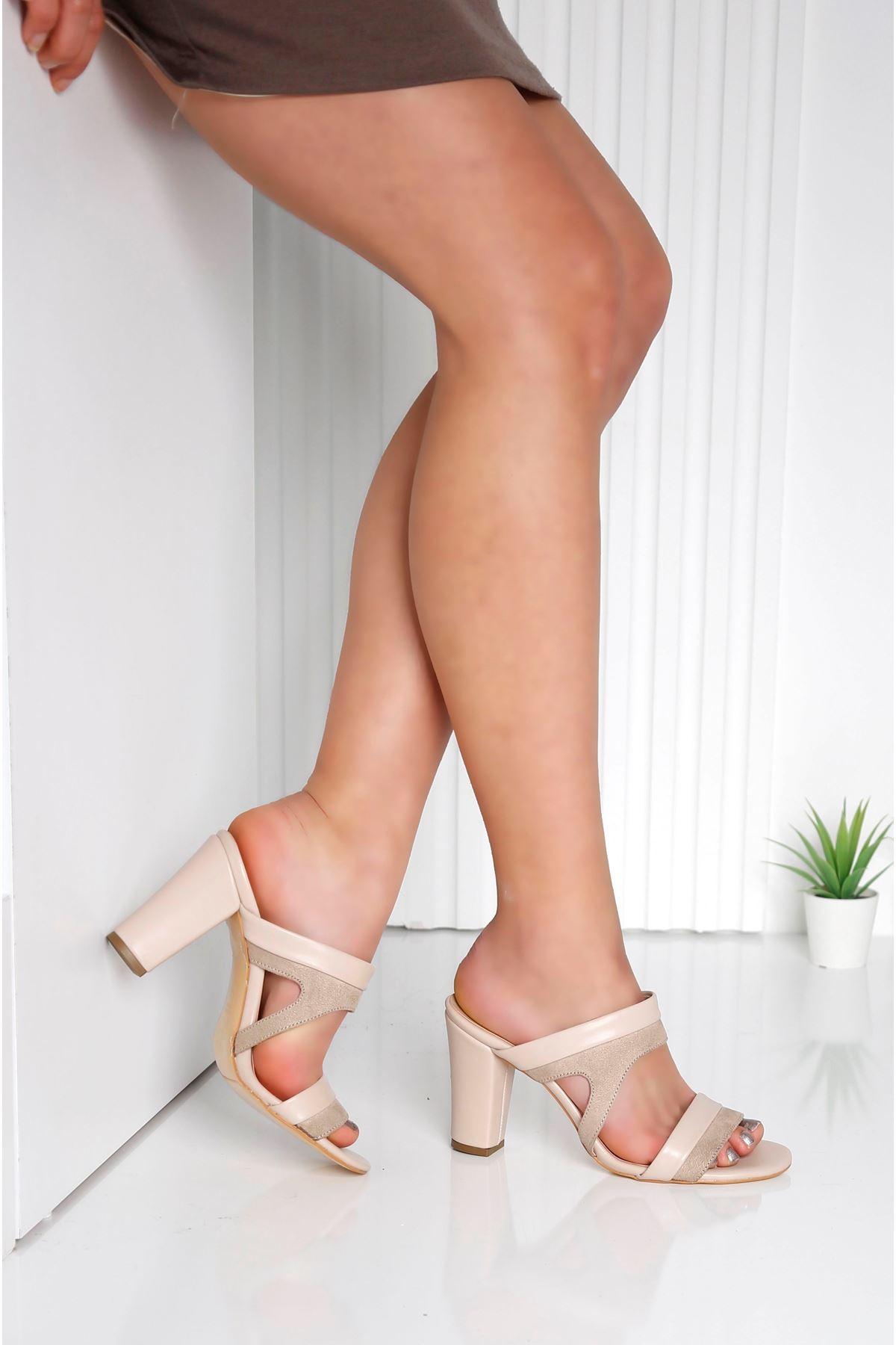 EDINA Vizon Topuklu Kadın Terlik