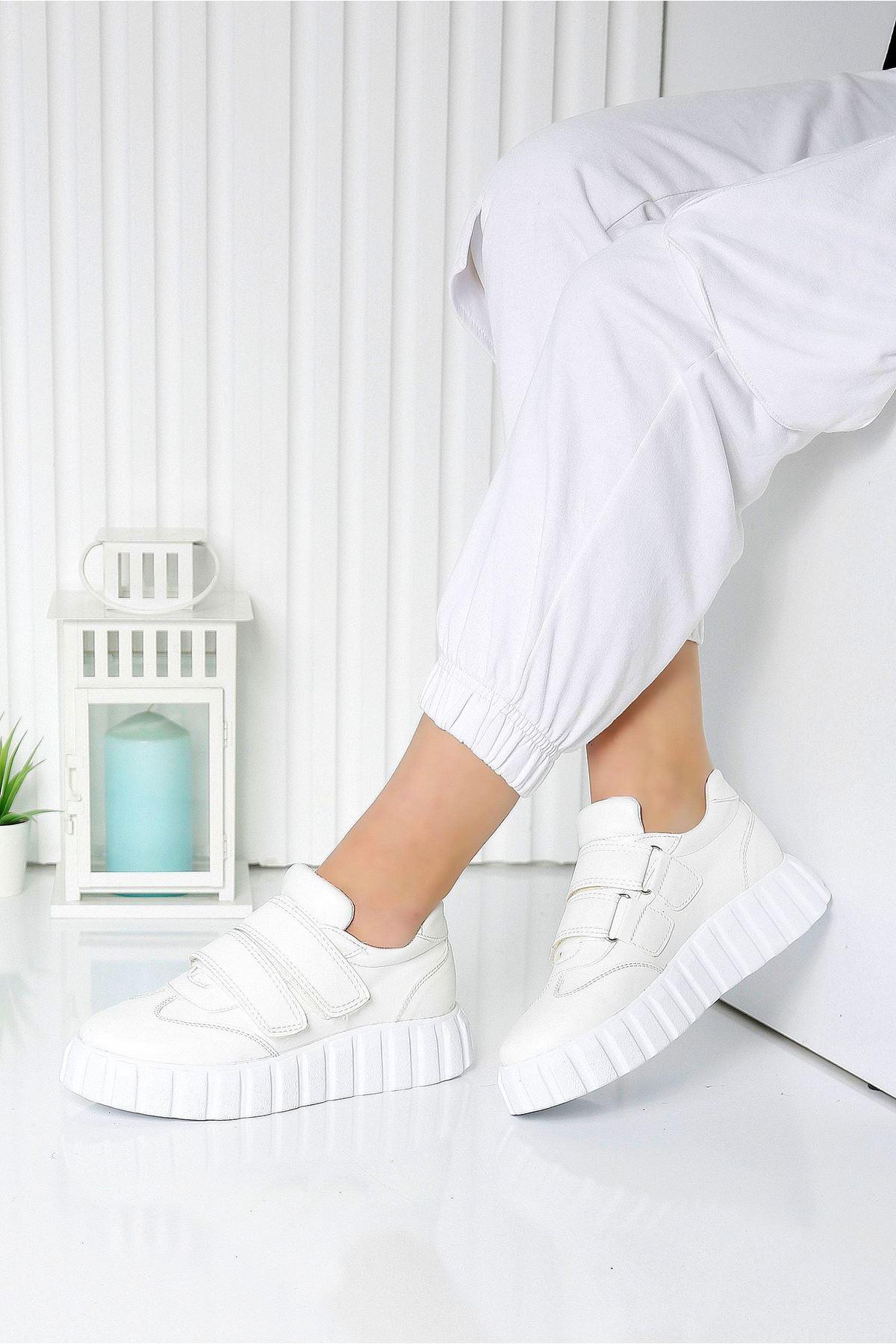 PLUME Beyaz Kadın Spor Ayakkabı