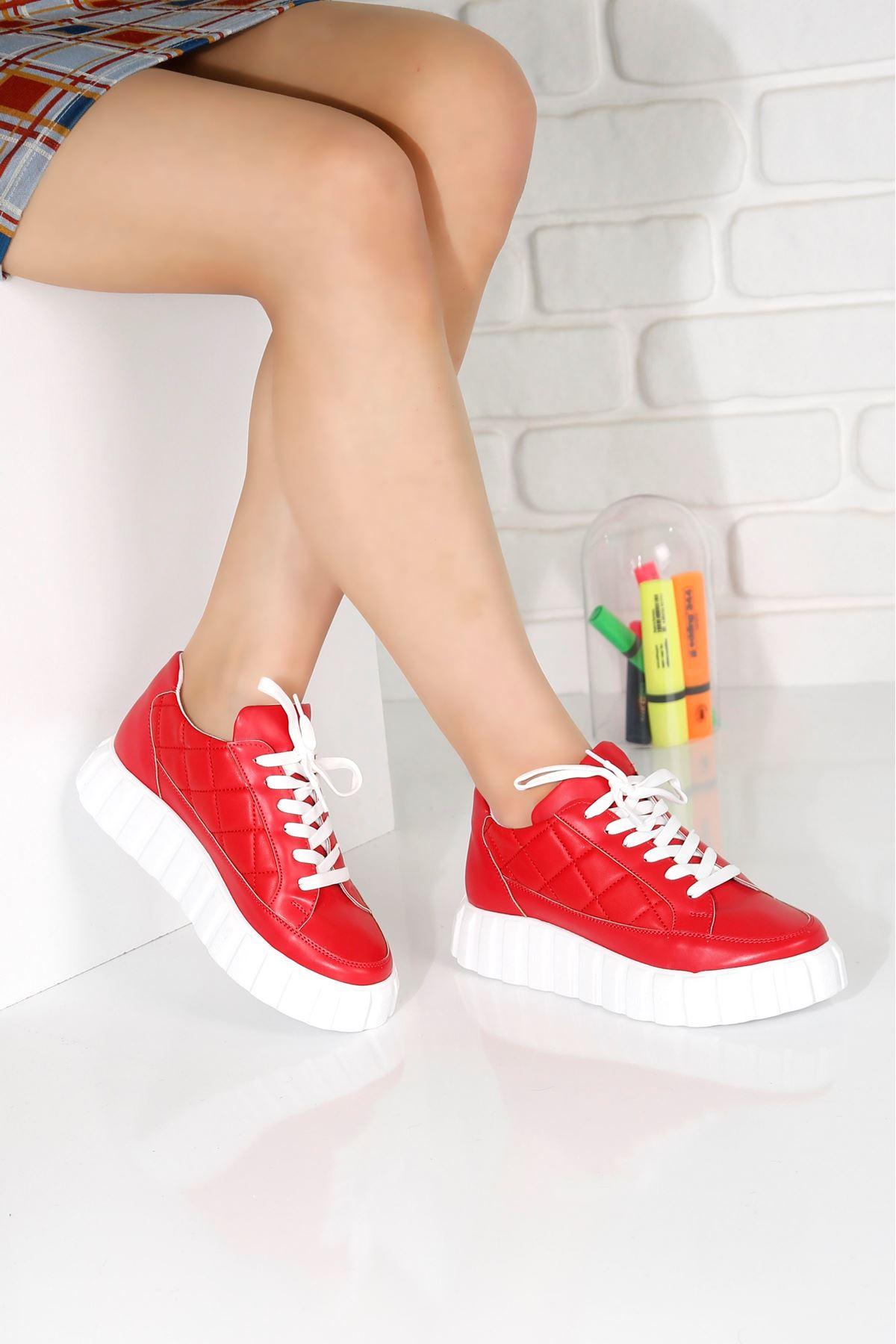 SOFT Kırmızı Kadın Spor Ayakkabı