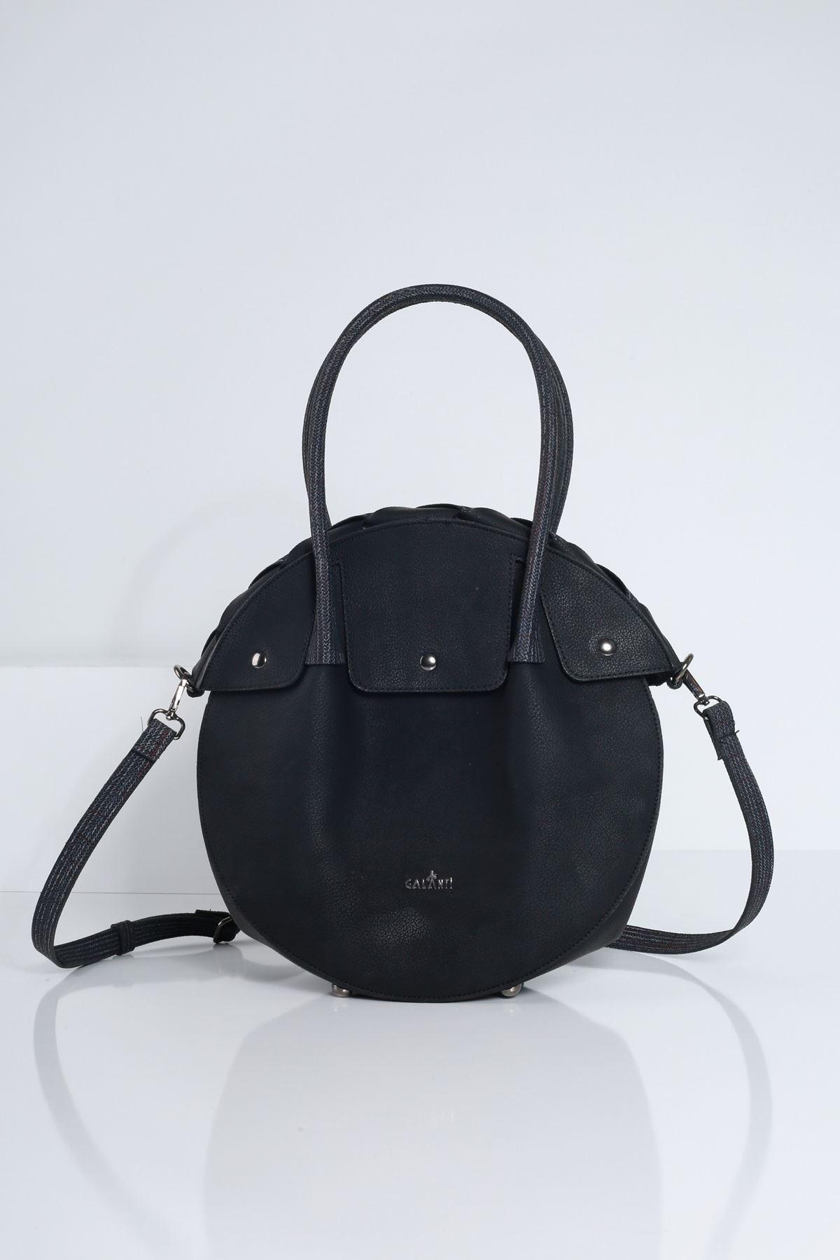 NOSUSS Siyah Yuvarlak Kadın Çanta