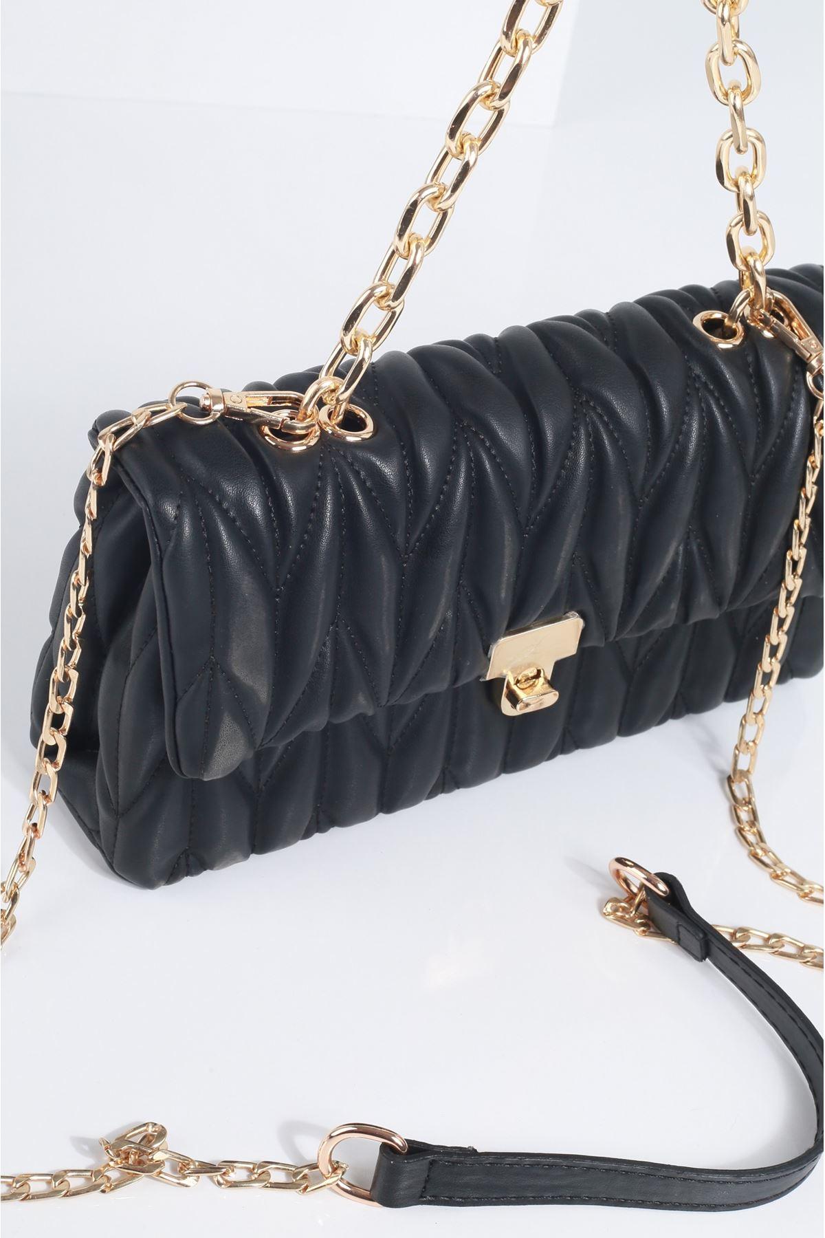 WENDEY Siyah Rugan Kadın Çanta