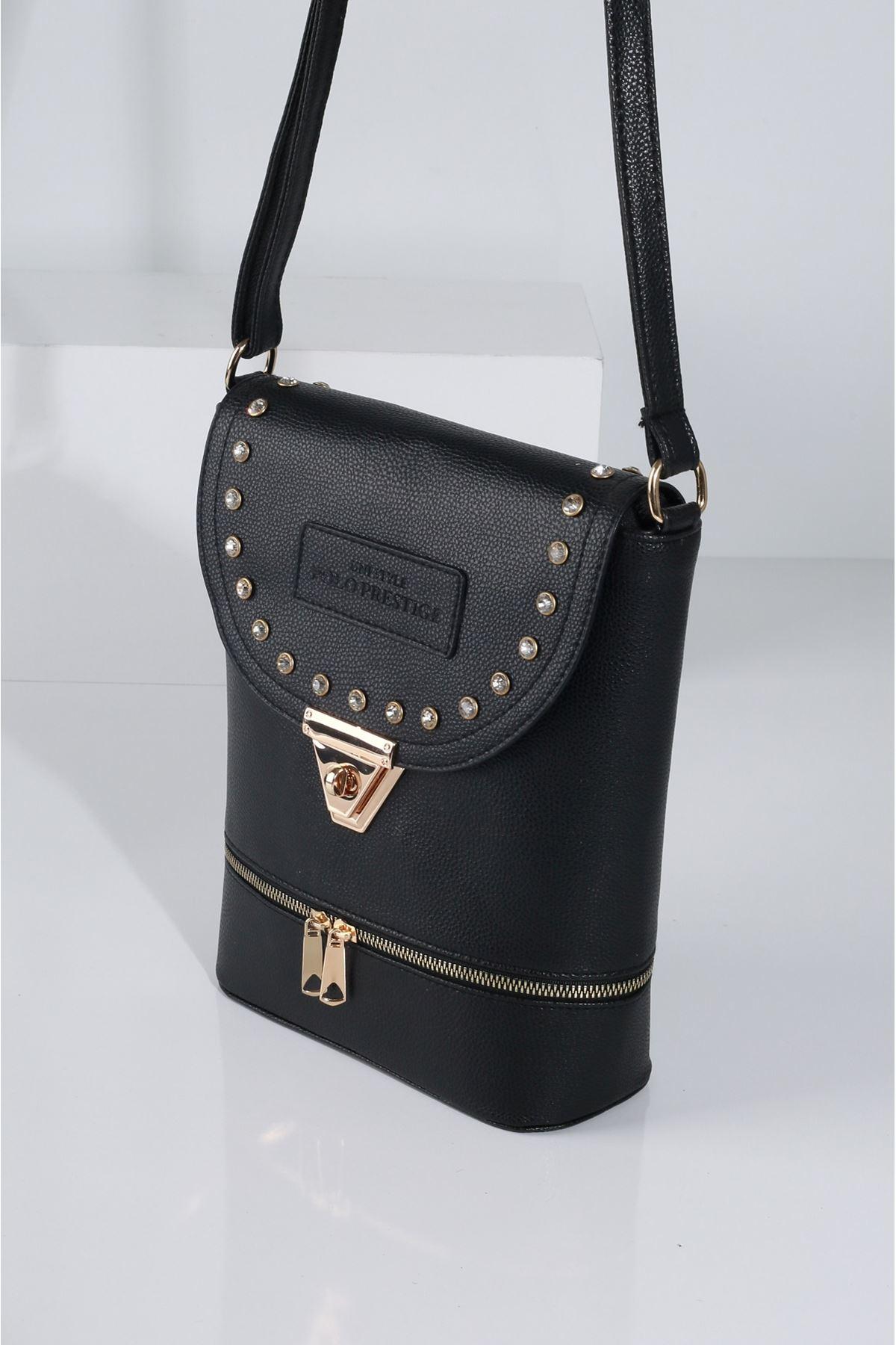 BIANCA Siyah Kadın Postacı Çanta