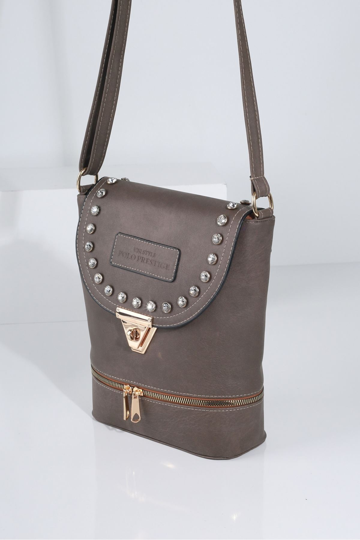 BIANCA Vizon Kadın Postacı Çanta
