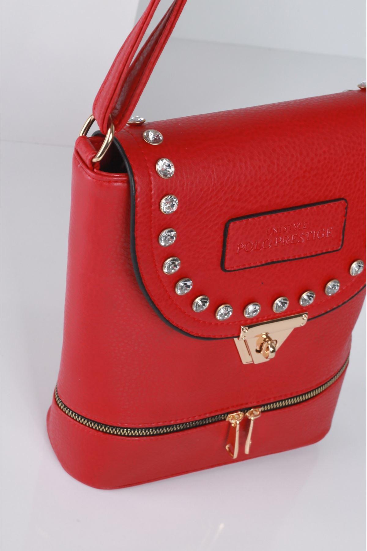BIANCA Kırmızı Kadın Postacı Çanta